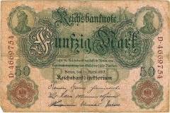 50 Mark - Reichsbanknote 1910