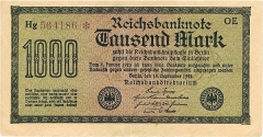1000 Mark - Reichsbanknote 1922